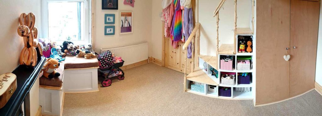 A photograph of a Child's bedroom after renovation by Made to Alder.