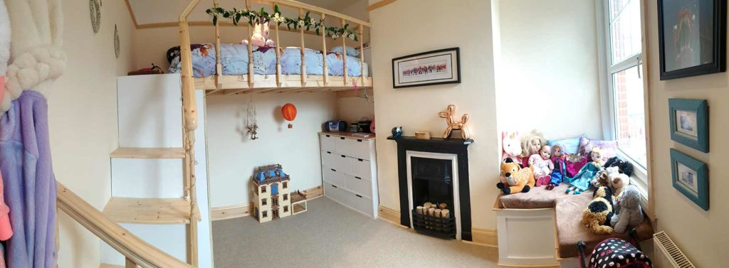 Photograph of a child's bedroom after renovation by Made to Alder