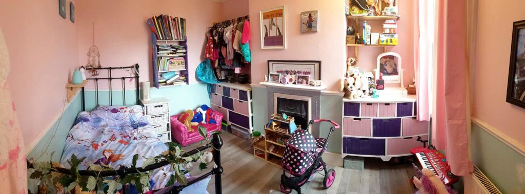 Photograph of a child's bedroom before renovation by Made to Alder