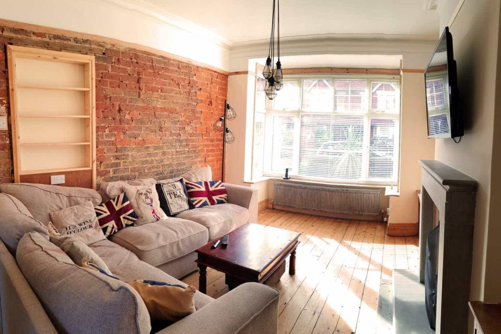 Photograph of a lounge after renovation by Made to Alder