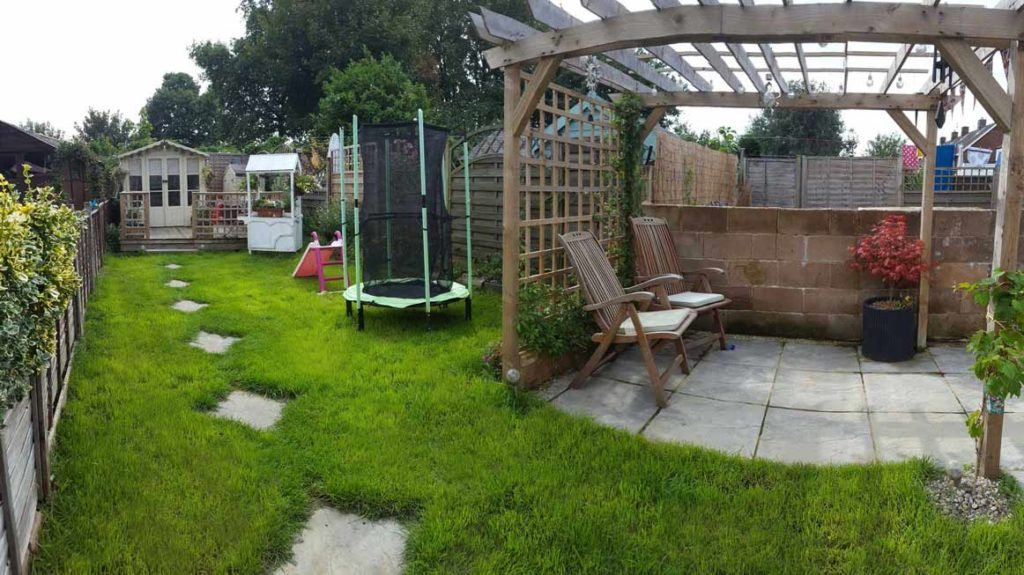 Photograph of a garden after landscaping by Made to Alder