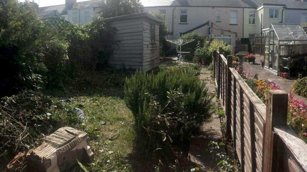 Photograph of a garden before landscaping by Made to Alder